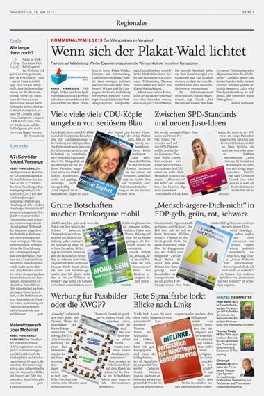 Kommunalwahl Pinneberg - Plakatwerbung