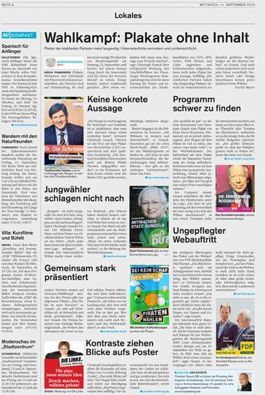 Bundestagswahl 2013 - Wahlwerbung