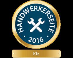 Handwerkerseite des Jahres 2016 - KFZ