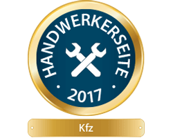 Handwerkerseite des Jahres 2017 - KFZ