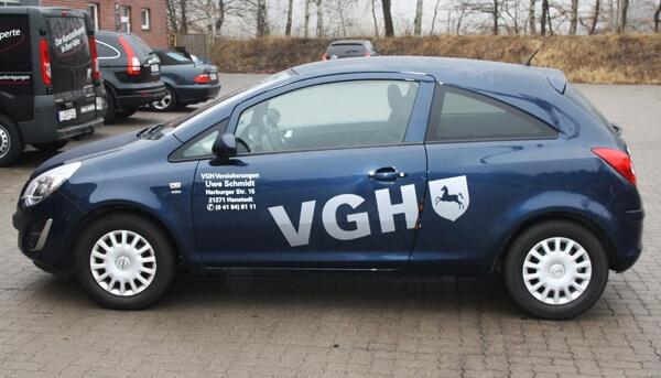 KFZ-Beschriftung für Versicherung aus Hanstedt
