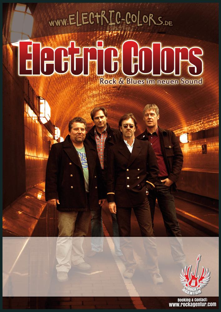 Printmedien - Plakat Musiker Electric Colors