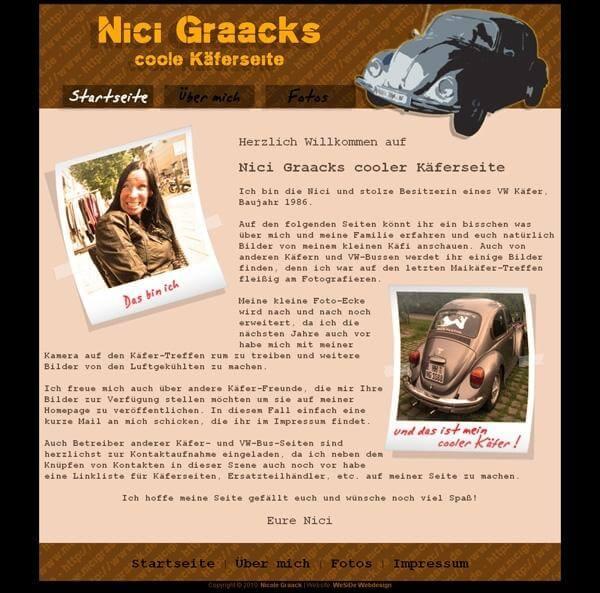 NiciGraack.de - Beste private Homepage 2011 - Platz 2