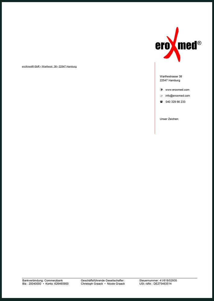 Printdesign - Druckvorlage Geschäftspapier Medizinprodukte