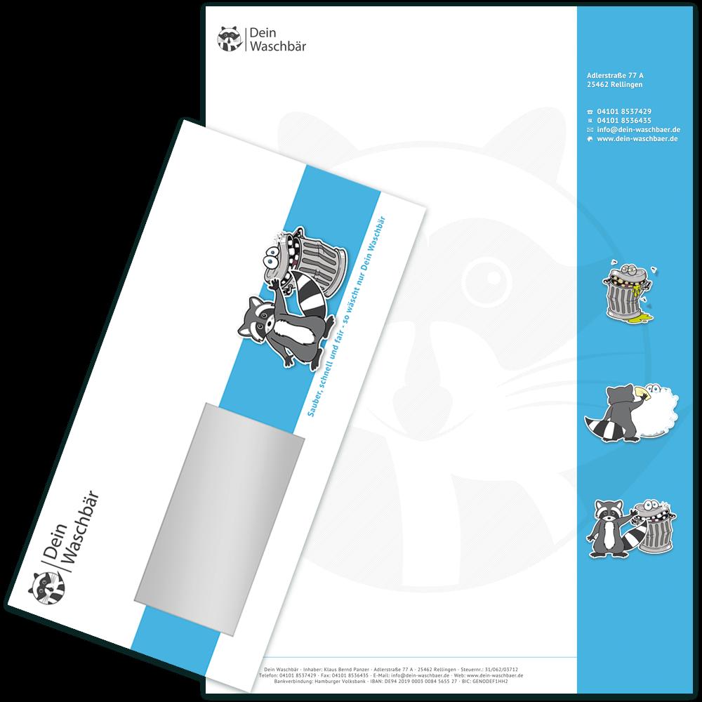 Briefpapier und Umschlag Din lang