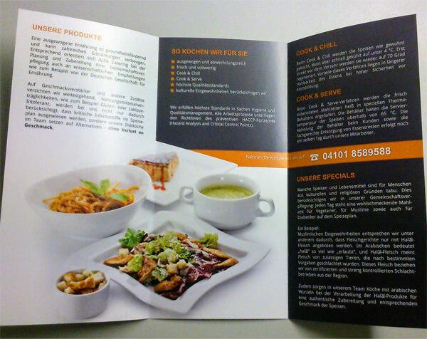 Druckerzeugnis Catering-Flyer - Innenseite