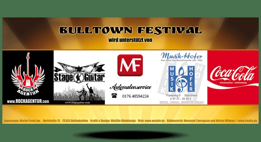 Eintrittskarte Bulltown Festival 2012 - Rückseite
