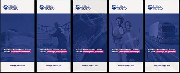 Inkasso-Flyer für verschiedene Branchen