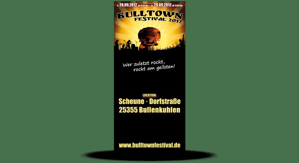 Faltblätter Bulltown Festival 2012 - Deckblatt