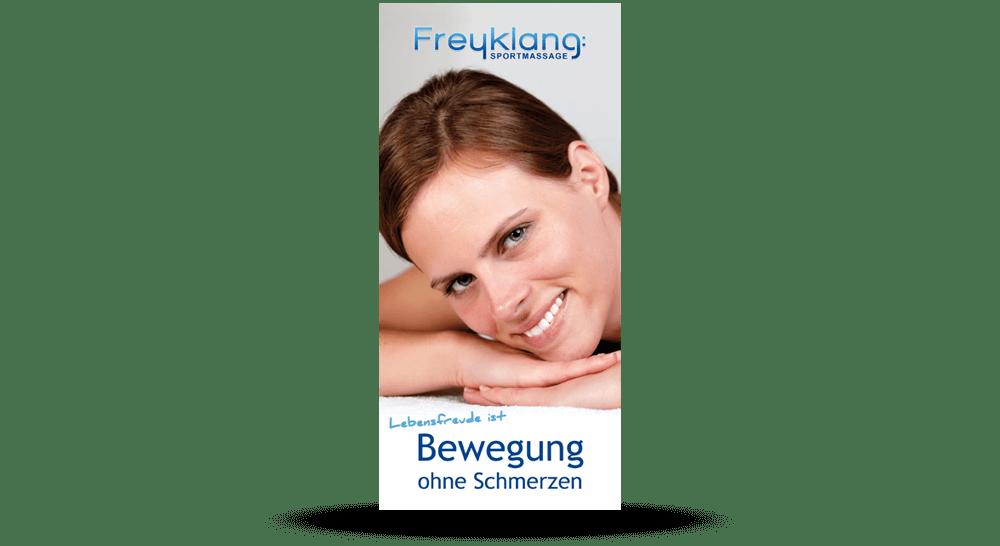 Deckblatt - Sportmassage Flyer - DIN lang