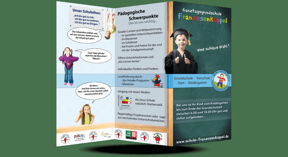 Faltblätter Schule Franzosenkoppel - Aussenseite