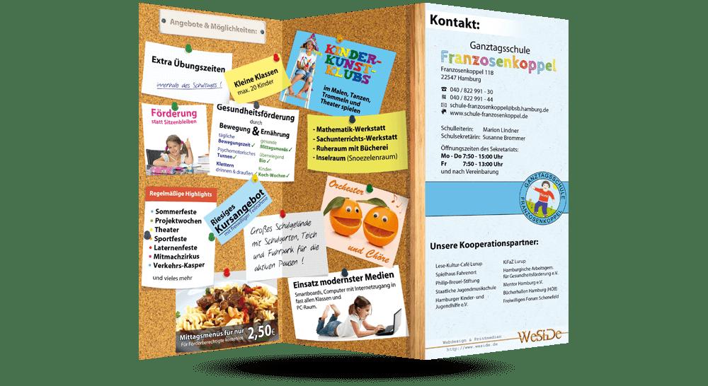 Falzflyer Grundschule Franzosenkoppel - Innenseite