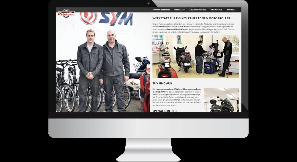 Werkstatt Homepage - Webdesign mit authentischem Bildmaterial