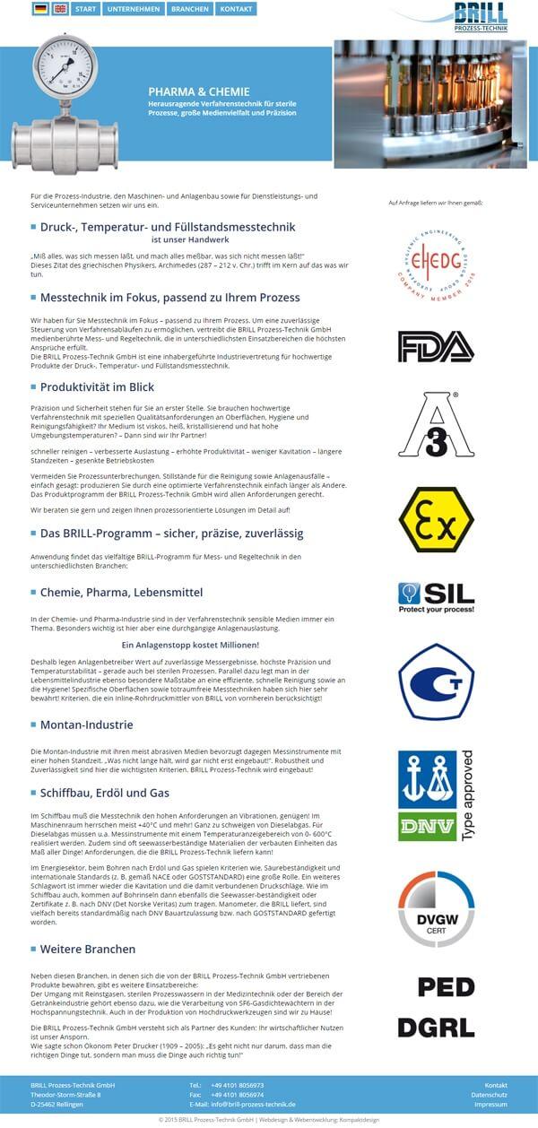 Homepage Industrievertretung für Druckmesstechnik