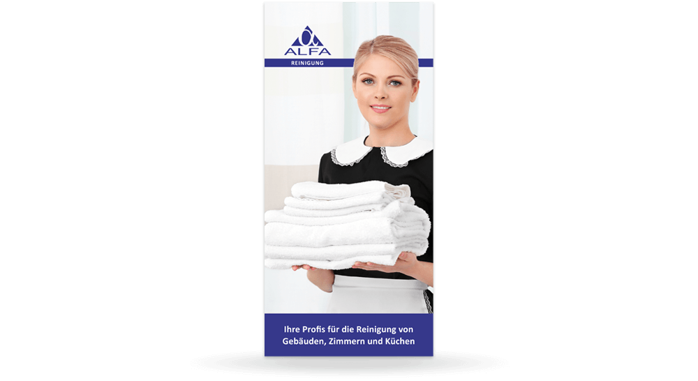 Deckblatt - Werbeflyer Reinigungs-Firma