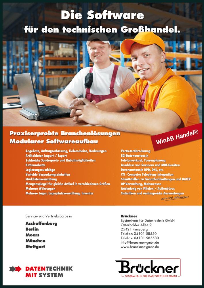 DIN A4-Flyer für IT-Software - Darstellung der Anwendung und Einsatzmöglichkeiten