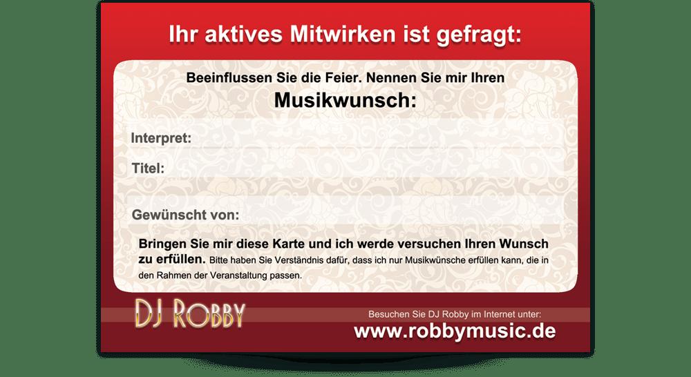 Flyer DIN A6 DJ Robby - Rückseite