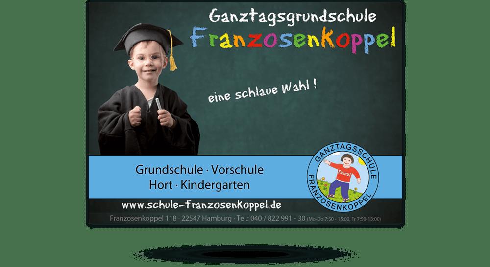 Flyer DIN A6 Grundschule Hamburg - Vorderseite
