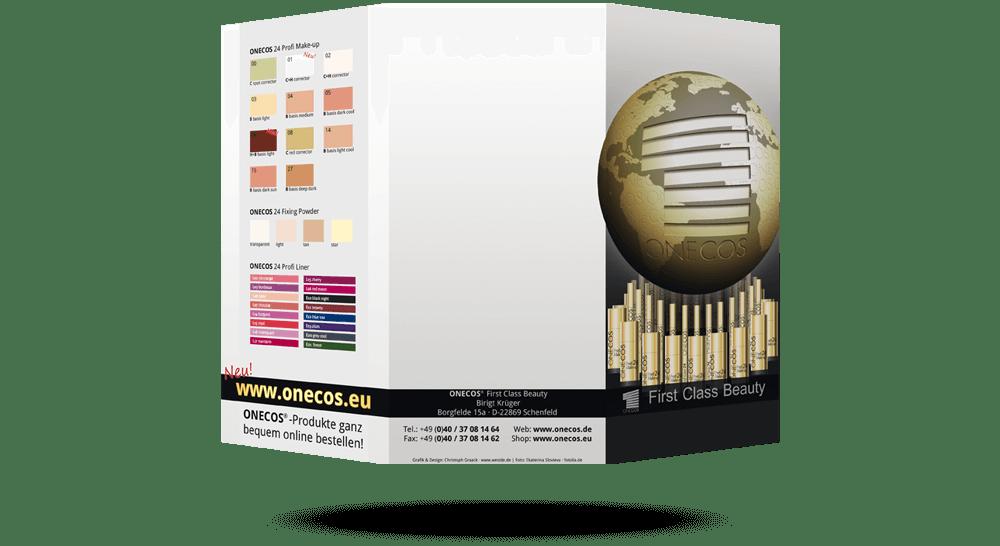 Faltblatt Onecos Kosmetik Produkte - Din Lang