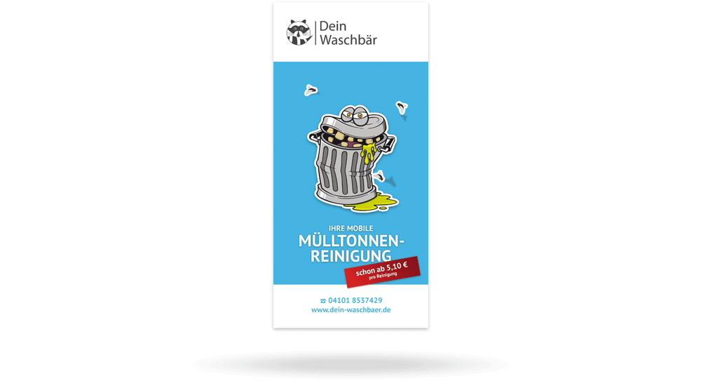 Deckblatt - Werbeflyer Mülltonnenreinigung