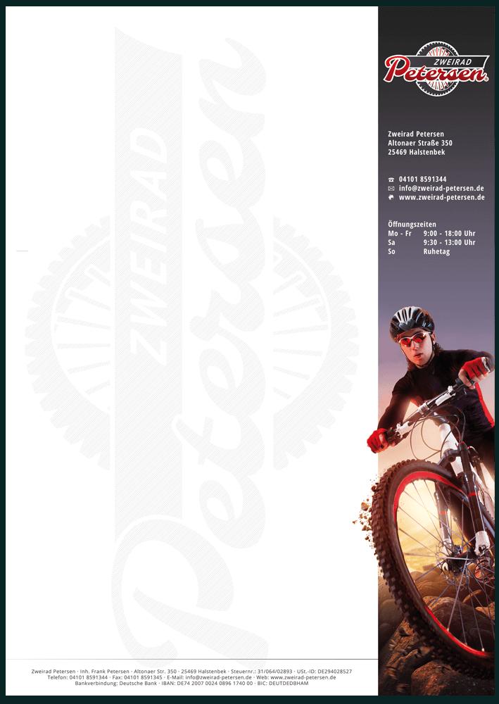 Geschäftspapier für Mechaniker in DIN A4, einseitig Bedruckt