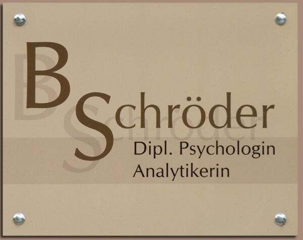 Firmenschild mit Werbefolierung - Psychologin Hamburg