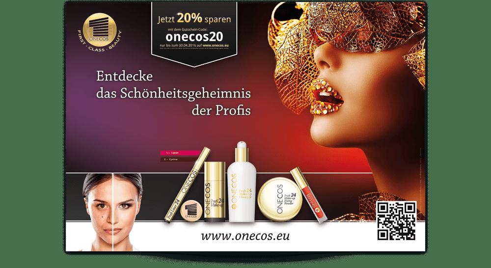 Druckvorlage Kosmetik-Plakatwerbung