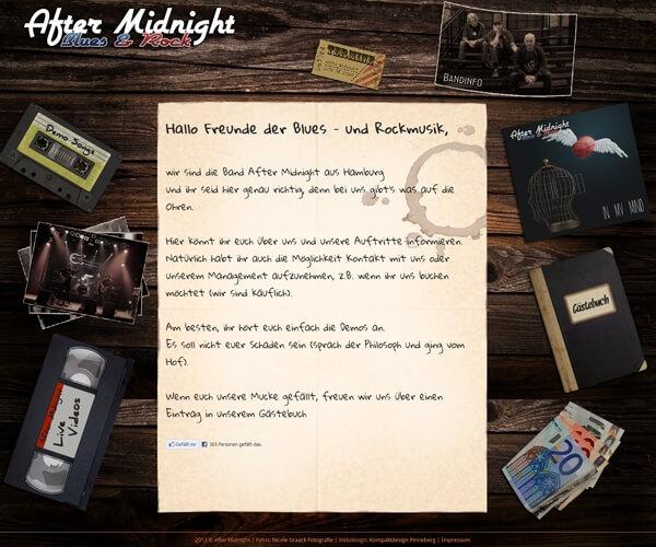 Homepage der Rockband After Midnight
