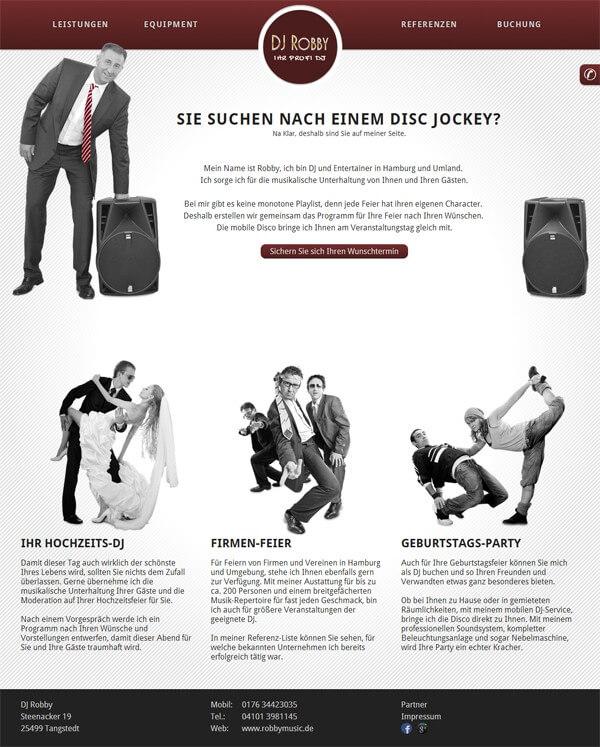 Homepage von DJ Robby Tangstedt