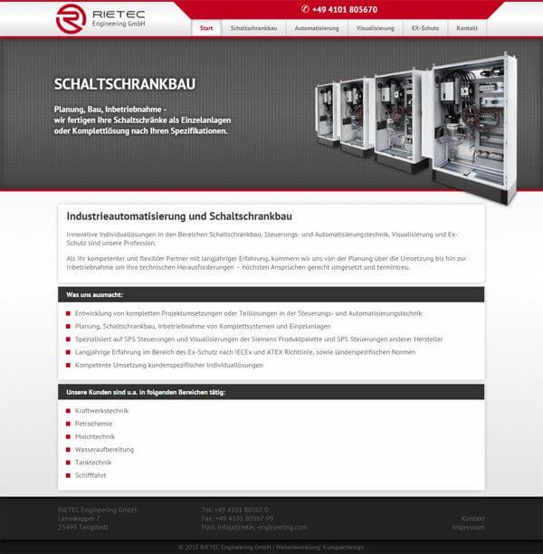 Firmen website f r die industrie responsive webdesign for Design firmen deutschland