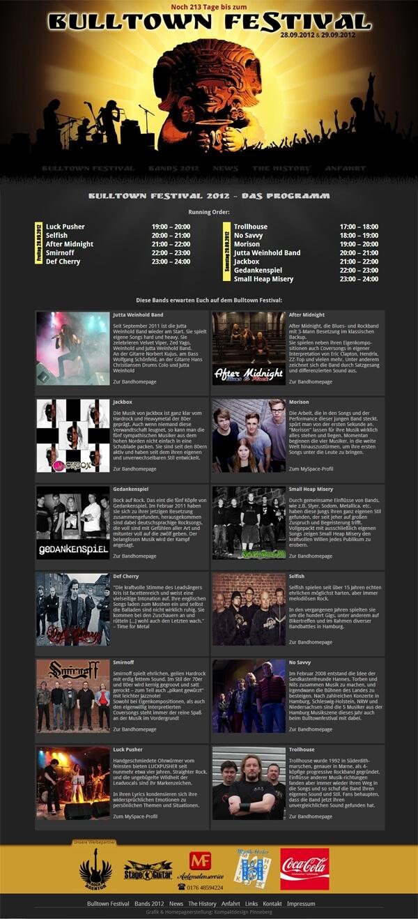 Homepage Bulltown Festival - Veranstaltung