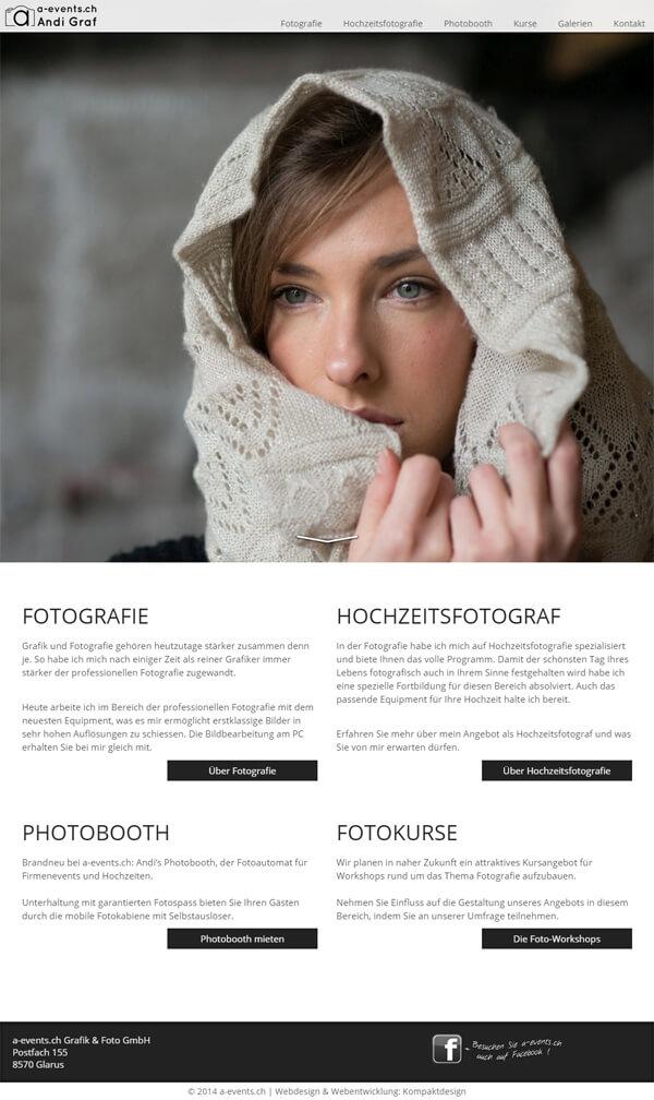 Fotograf - Responsive Webdesign