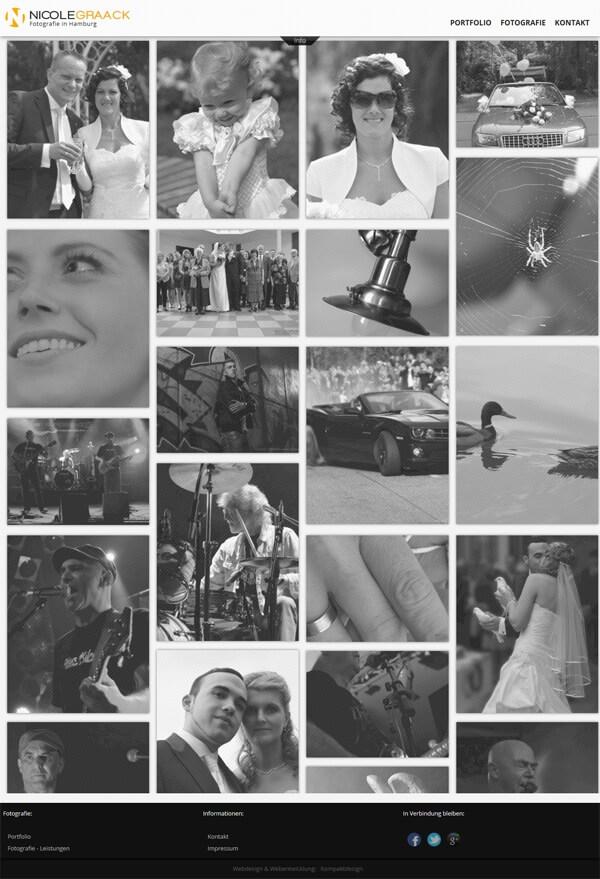 Homepage Fotografie mit Portfolio