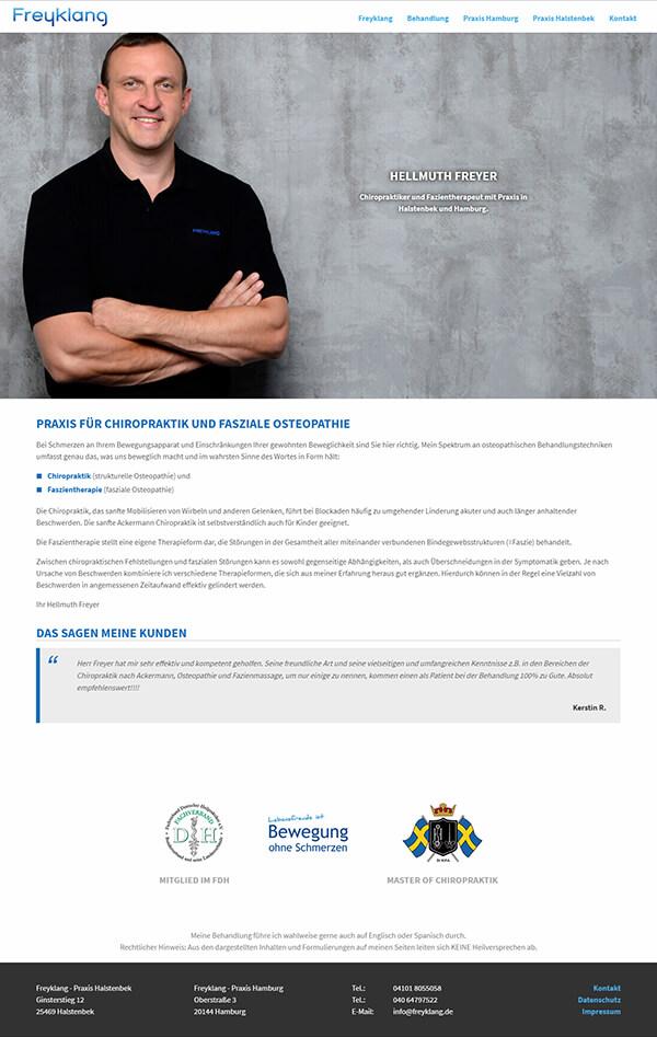 Homepage für Chiropraktiker