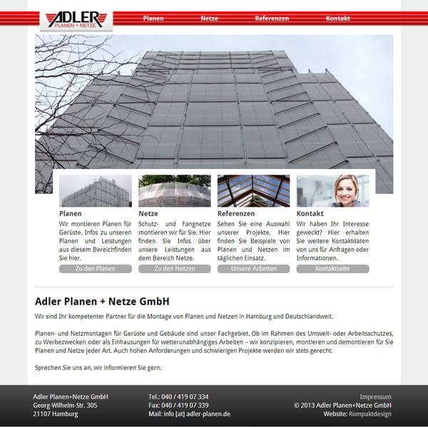 Firmen-Homepage - Gerüstbau aus Hamburg