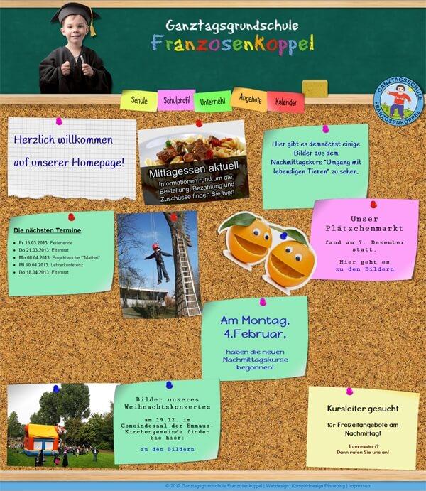 Homepage Grundschule Franzosenkoppel Hamburg
