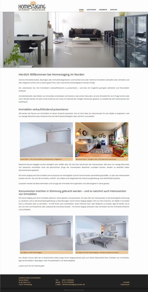 Home Staging im Norden - Homepage