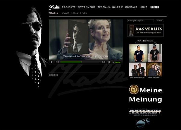 Mobiloptimierte Homepage mit Blog von Kalle Schwensen