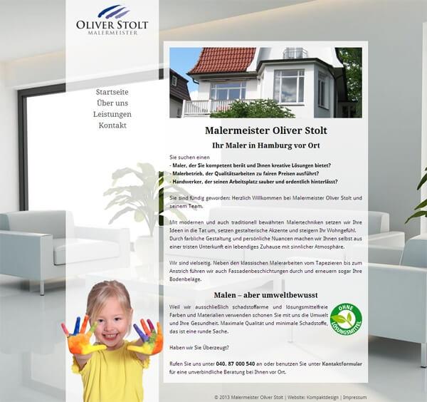 Firmen-Homepage Malermeister Stolt