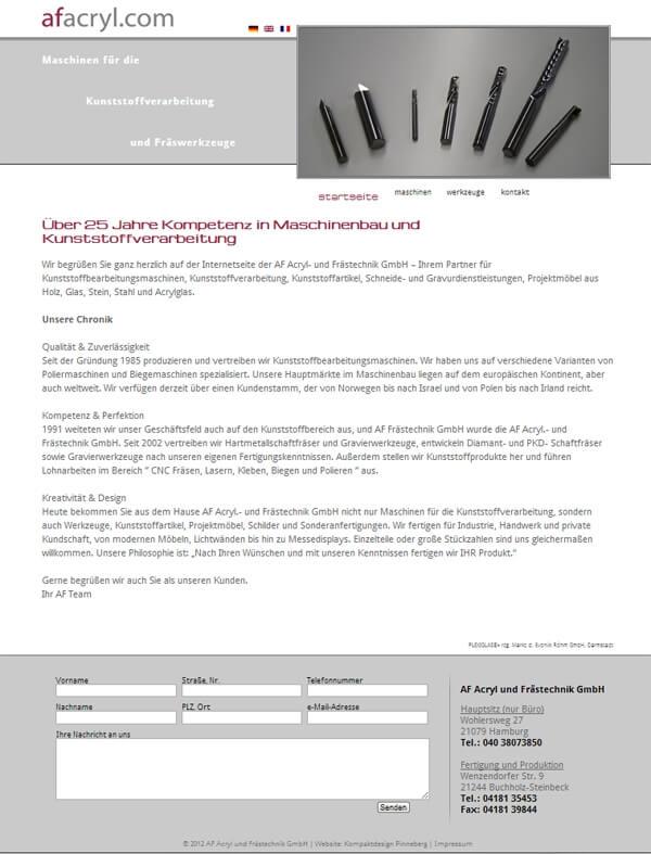 Mehrsprachige homepages f r maschinenbau firmen Design firmen deutschland