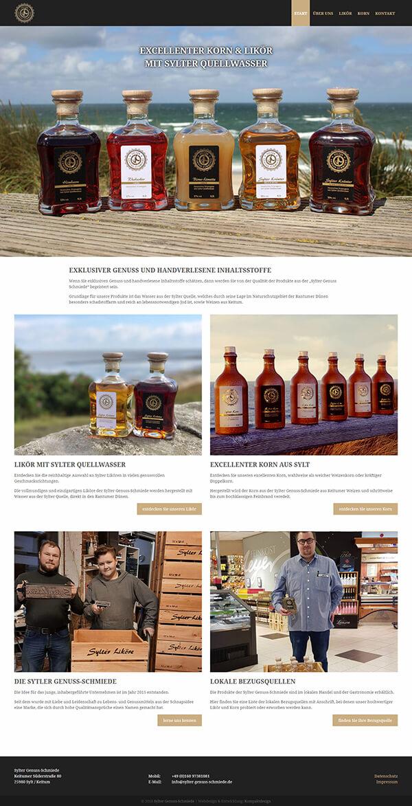 Homepage der Sylter Genuss-Schmiede