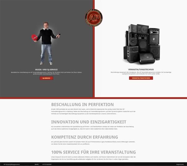 Responsive Webdesign - Veranstaltungsservice