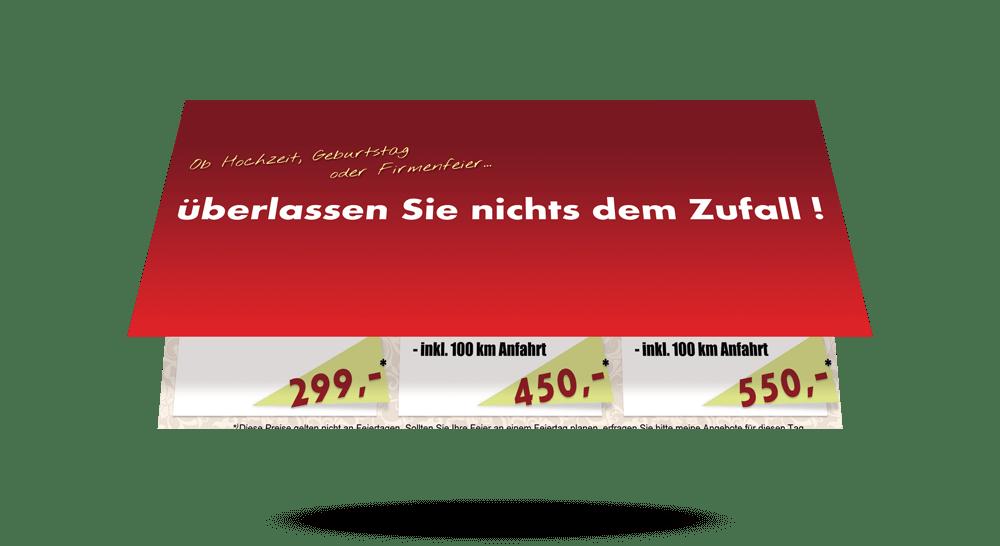 Werbeflyer 4-Teilig Disc Jockey - Außenseite
