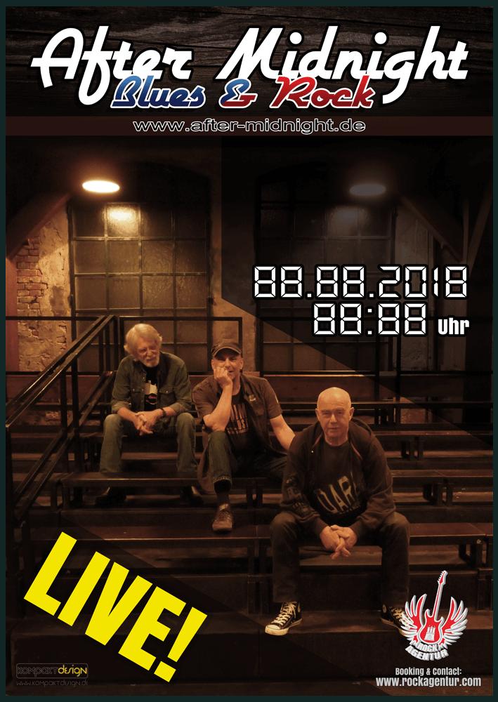 Plakat - Bluesrockband After Midnight aus Hamburg