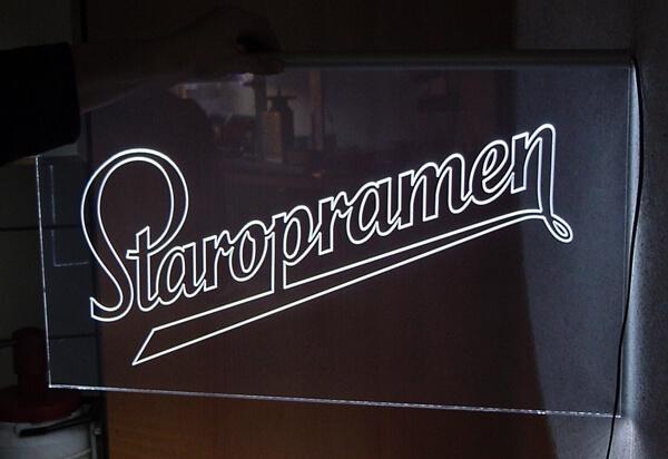 Werbetechnik - LED-Schild Staropramen Bremen