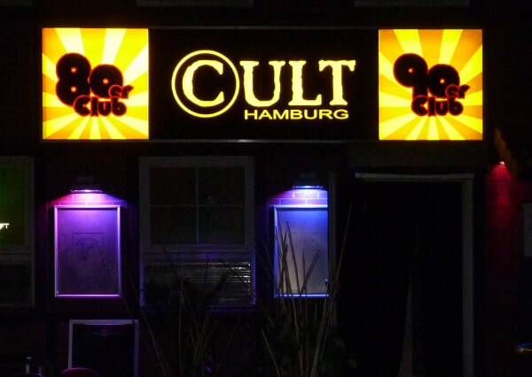 Schild beleuchtet - Leuchtkasten Disco Hamburg
