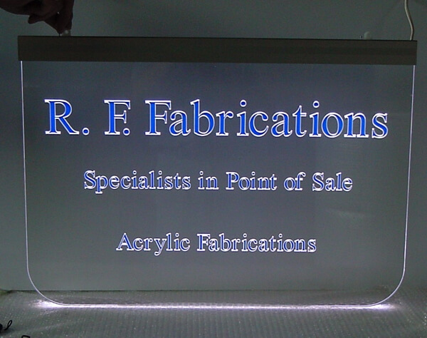 Werbetechnik - Leuchtschild aus Acrylglas mit LED