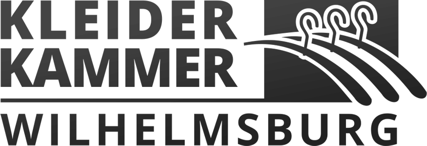 Logodesign der Kleiderkammer einfarbig