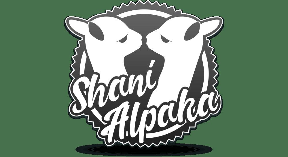Alpaka-Logo - Emblem in einfarbiger Umsetzung