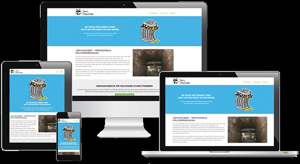 Responsive Webdesign Mülltonnenreinigung
